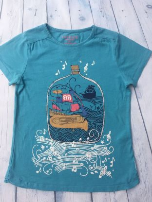 FatFace blue sparkly top with boat age 10-11 (small Camp Bestival logo on the side)